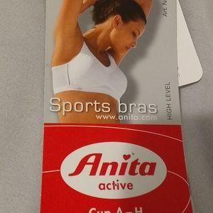 Anita High Impact White Sports Bra NWT